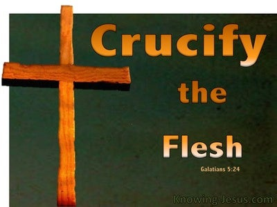 Galatians 5:24 Crucify The Flesh (green)
